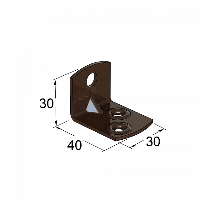 METAL CORNER 40x30x30 / BROWN
